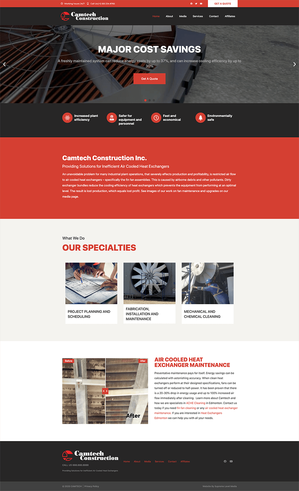 Camtech Construction – Providing Fin Fan and Air Cooled Heat Exchanger upgrades, maintenance, cleaning, performance testing anywhere in North America copy